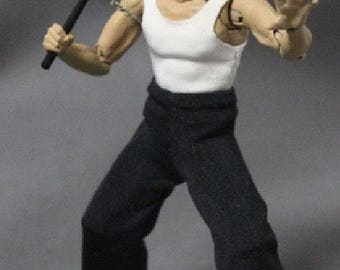 NOX-BL: FIGLot 1/12 Scale fabric outfit set for SH Figuarts Bruce Lee Action Figure