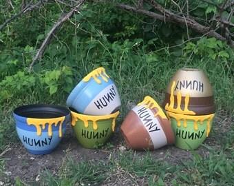 Winnie the Pooh Hunny Pots, Hunny Pot, Honey Pots, Honey Pot, Decor, Centerpiece, Birthday, Baby Shower, Photoshoot, Prop, Photo