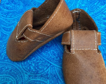 Upcycled Leather Newborn Baby Shoes PROCEEDS TO CHARITY