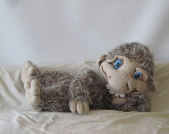 Bigfoot stuffed toy Yeti crochet doll gift decor Stuffed animal