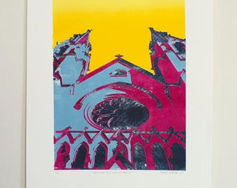 Cathedral of St. John the Baptist - 5 color screen print (3/6)