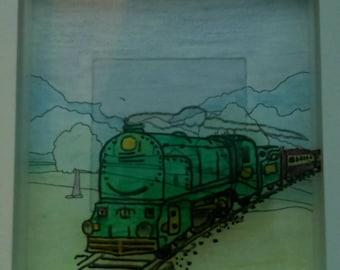 Steam Train Box Frame
