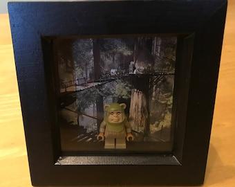 Star Wars - Ewok Lego figure in frame