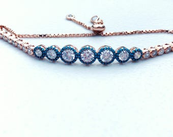 Charming Handmade Bracelet - Immersed in Gold (Adjustable Length - Up to 10 Inches)