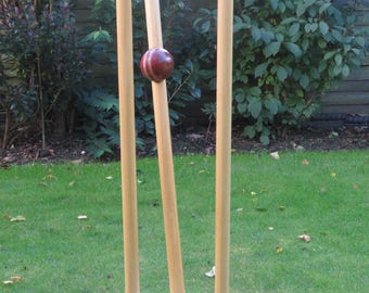"Cricket Stumps Sculpture - ""Owzat!"""