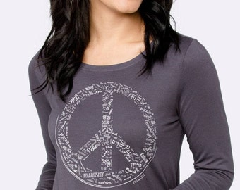 Fig & Lily Peace Tee — Strong Slate