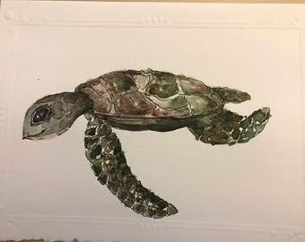 Turtle || Watercolor Original || Card or Painting