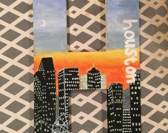 "Houston ""H"" Canvas"