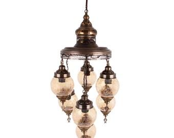 Rotto 7-Light Handmade Ottoman Turkish Chandelier