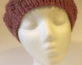 Handmade Wool S/M Seed Stitch Slouch Beret