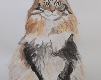 Custom Water Color Pet Portraits
