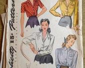 Vintage Simplicity 4139 Ladies' Shirts Size 16  Bust 34