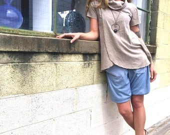 In Bloom convertible top in organic hemp jersey. Made to order.