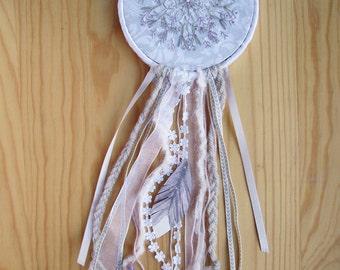 Embroidered Mandala Dream Catcher wall hanging boho bohemian decor dreamcatcher