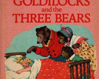 Goldilocks and the Three Bears See and Say Storybook - 1986 - Vintage Kids Book