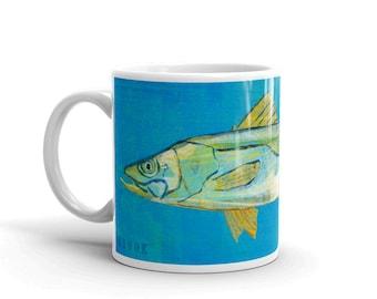 Fishing Gift- Fish Coffee Cup- Husband Gift- Fish Mug- Snook Mug- Gift- for Fisherman Gift- Fish Gift for Him