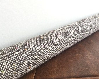 BROWN SPECKLE wool door draft stopper cover, draft snake, draught excluder