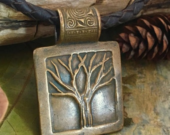 Tree of Life Pendant Bronze, Tree of Life Jewelry, Irish Celtic Jewelry, Celtic Sacred Trees, Druid Viking Nordic Norse Pagan, Tree Jewelry