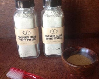 Cinnamon Clove Remineralizing Tooth Powder.....Glass Jar, you choose the size *Shop Best Seller*