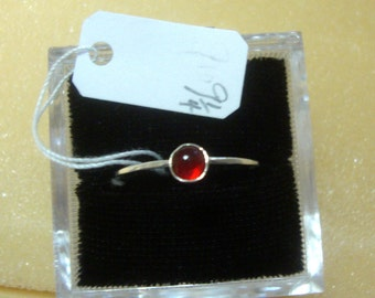 Red ring 5mm stacking  skinny stacking size 9.25, Promo/Prototype * Ready to Mail * BIG SALE * solid sterling silver
