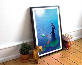 Fireflies - large poster art print