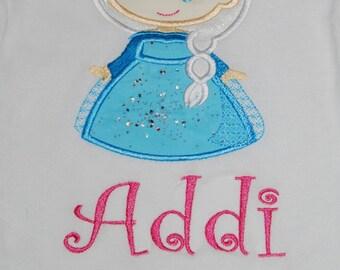Elsa Cutie Monogram shirt custom 12m-14 years