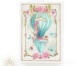 Marie Antoinette high tea in a hot air balloon, let them eat cake, birthday, all occasion card