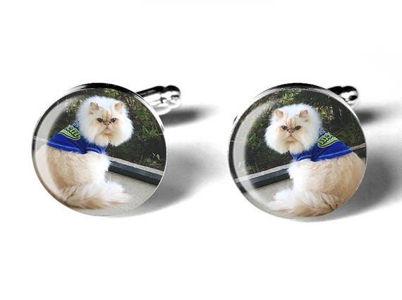 Pet Cufflinks, Photo Cufflinks, Pet Photo, Personalized, Memorial Keepsake, Dogs, Cats, Weddings, Birthdays, Handmade, Remembrance Gift