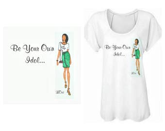 Be your own idol fashion illustrated shirt