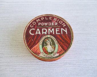 Vintage Carmen Complexion Powder Sample Box