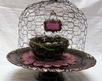 Vintage Silverplate Repurposed in Amethyst for Cakes / Pastries / Desert / Weddings or Shop Displays