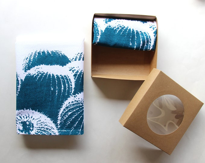 Teal & White Barrel Cactus Cloth Napkin Set