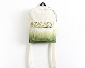 Olive green dyed backpack I