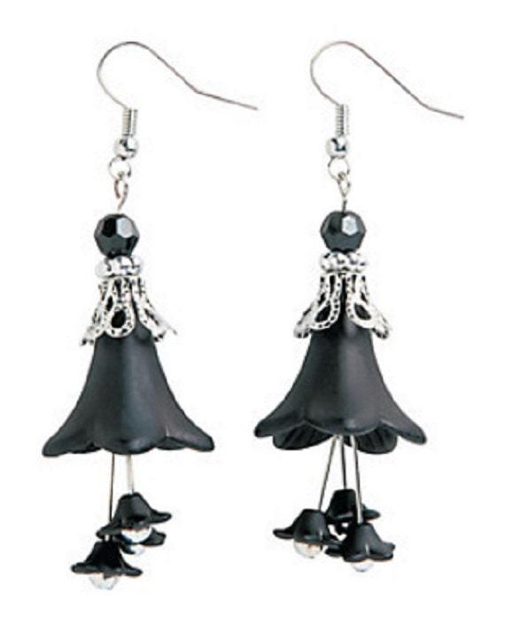 Black Bell Earrings