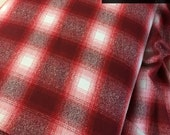 Hipster Flannel fabric, Red Plaid fabric, Christmas Flannel, Lumberjack Decor, Mammoth Flannel, Medium Plaid in Red - 333, Choose the cut