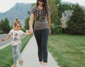 ROAM matching t shirts, mother daughter shirts, Mother's Day, mother son graphic tees, camping shirts, mommy and me outfit, gift for mom