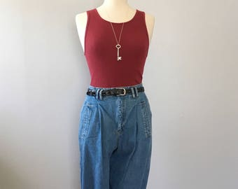 Vintage baggy jeans Lizwear slouchy jean high waisted jeans pleated front jeans