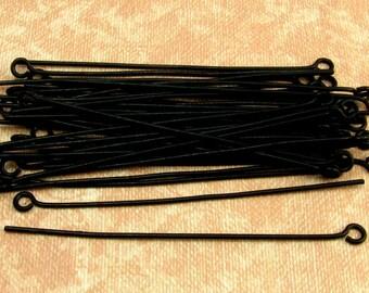 Two-Inch Black Eye Pin, 20 Gauge, Matte Black, 40 Pc. MB13