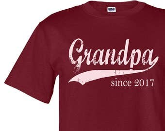 Grandpa since ANY year personalized mens tee, Father's Day gift, grandpa to be tshirt, screen print tshirt, graphic tee for men