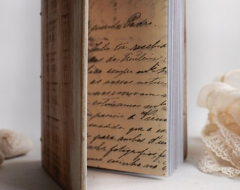 Wood book Distressed sketch book