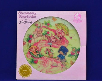 Strawberry Shortcake and Her Friends - Vintage Picture Disc LP Vinyl Record Album - Kid Stuff Records-KPD 6002 - 1981 American Greeting Corp