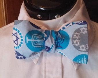 Hanukkah Judaica Bow Tie