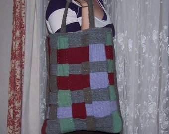 Felted Woven Wool Bag