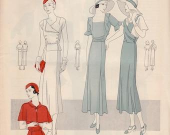 Vintage Pattern Catalog Booklet Vogue Patterns January, 1932 - ORIGINAL-
