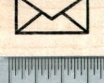 Tiny Envelope Rubber Stamp A32320 Wood Mounted