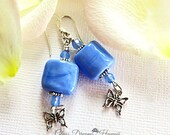 Periwinkle Glass Earrings...