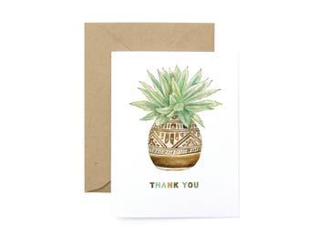 Thank You Planter Card