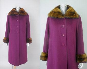 Cantebury Tales coat | vintage 1940s fur coat | vintage 40s wool coat