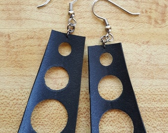 Recycled Bicycle Tire Tube Earrings