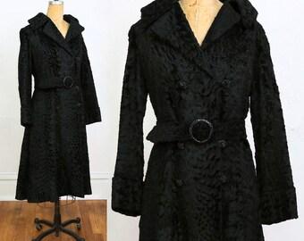 SALE Lambswool COAT Black Wool Jacket